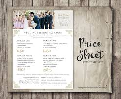 wedding photographer prices wedding photography price sheet price list template