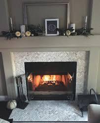 glass tile fireplace mantels wall white surround splendid