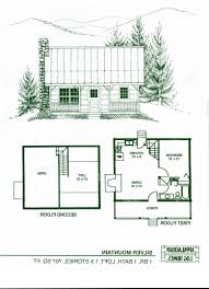 one bedroom cabin with loft floor plans