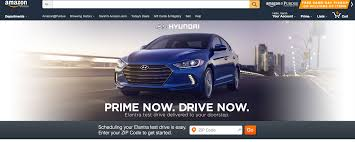 hyundai elantra test drive amazon s prime now service starts delivering test drives from