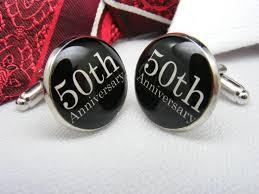 50th anniversary gift 50th anniversary cufflinks golden anniversary 50th wedding