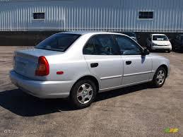 2002 hyundai accent sedan 2002 silver mist hyundai accent gl sedan 65480843 photo 2