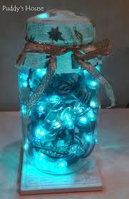 diy christmas decorations blue lights in canning jar masonic