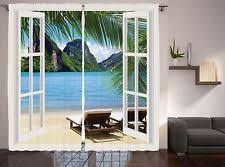 nature print tropical curtains drapes u0026 valances ebay