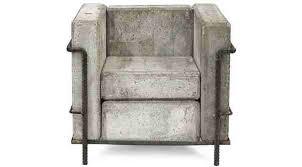 heavy duty concrete chair stefan zwicky u0027s version of le corbusier