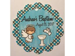baptism favor tags custom printed labels and personalized senatorsflowers