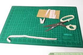 ribbon elastic 3 ways to make elastic ribbon hair ties wikihow