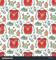 ugly christmas sweater party vector xmas stock vector 508292302