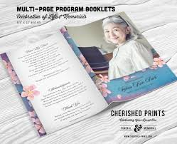 funeral booklets cherry blossoms multi page funeral booklet program celebration of