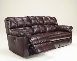 Ashley Furniture Exhilaration Sectional Living Room Leather Power Reclining Sofa 1339 62p At Sofas