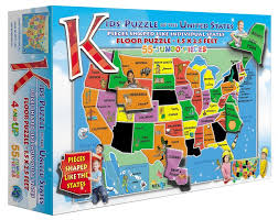 Map Of Usa With Compass Amazon Com Kids U0027 Puzzle Of The Usa 55 Piece Toys U0026 Games