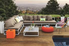 Patio Furniture Sectional Seating - furniture outdoor sectional sofas with brown wooden floor and