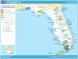 Map Of State Of Florida by Map Of Florida Map Federal Lands And Indian Reservations