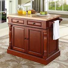 americana kitchen island darby home co lewistown kitchen island with butcher block top