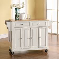 Kitchen Island Com by Shop Crosley Furniture White Craftsman Kitchen Island At Lowes Com
