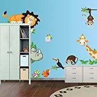 chambre de bébé jungle amazon fr jungle animals accessoires et décorations chambre de