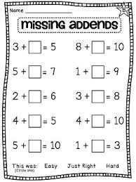 this is a missing addends worksheet it seems like just a typical