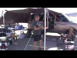 Vehicle Tents Awnings Using A Tarp As An Awning Living In A Van Youtube