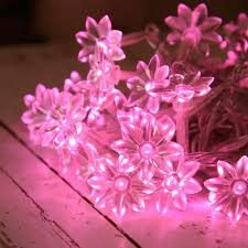 christmas tree flower lights pink lights for christmas tree led indoor fairy lights by