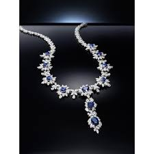diamond necklace with sapphire images Blue sapphire diamond necklace from ricco int 39 l co ltd jpg