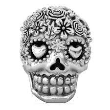 bella fascini sugar skull dia de los muertos charm bead fits pandora