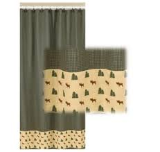 northern exposure moose and pine tree shower curtain cher bear