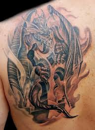 tattoo cross dragon medieval dragon on cross tattoo by marvin silva tattoonow