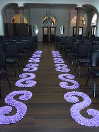 purple aisle runner pink princess pink ombré silk petal swirl cutout side aisle