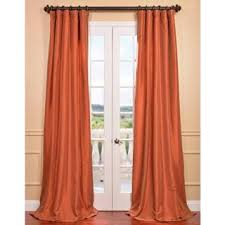 Burnt Orange Curtains Sale Surprising Design Burnt Orange Curtain Panels Harvest Faux Silk