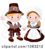 Happy Thanksgiving Pilgrims Clipart Of A Happy Thanksgiving Pilgrim Boy And Royalty