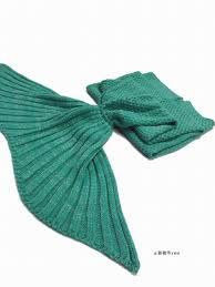 vancol big size tv blanket mermaid tail blanket handmade crochet