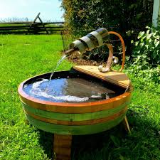 Water Fountain Home Decor Barrel Water Fountain Easy And Cheap U2014 Great Home Decor