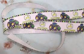 deere ribbon deere truck grosgrain ribbon cross stitch island