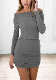 grey bodycon dress grey shoulder bodycon dress pictures photos and images for