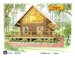 small log cabin plans with loft floor bk cypress homes designs
