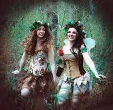 Halloween Entertainment - the enchanted forest stilt walking fairies trees and fauns