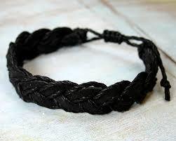 bracelet black images Black twist bracelet jpg
