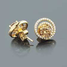 diamond earring jackets diamond earring jackets with large cognac diamonds 2 75ct 18k gold