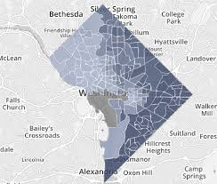 the remarkable racial segregation of washington d c in 1 map