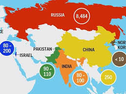 map all map all of the world s nukes business insider