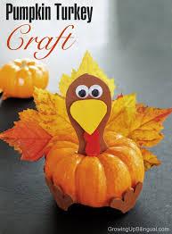 pumpkin turkey thanksgiving craft for growing up bilingual