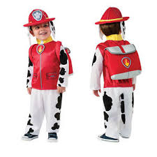 fireman costume paw patrol toddler small costume marshall 3 4 year fireman