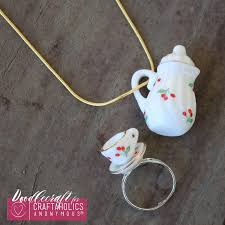 craftaholics anonymous miniature teacup and teapot jewelry