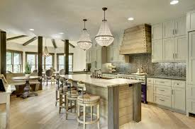 Rustic Kitchen Ideas by Modern Rustic Kitchen Design Pendant Lamps Breakfast Bar Large