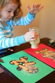 Preschool Holiday Crafts - easy gingerbread man christmas card gingerbread man gingerbread