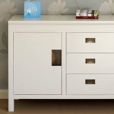 small white lacquer sideboard modern 4 living furnishings