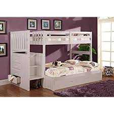 Bunk Bed With Trundle Stair Stepper Bed With Trundle In White