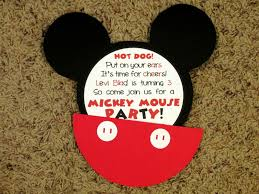 Mickey Mouse Invitation Cards Printable Photo Mickey Mouse Baby Shower Image
