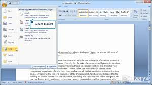 How To Send Resume Online by How To Send A Document Via Email With Word 2007 Youtube
