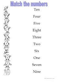 numbers 1 10 worksheet free esl printable worksheets made by